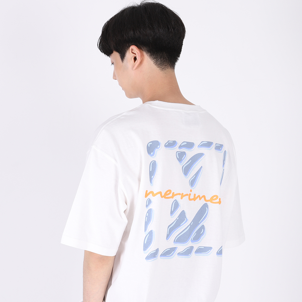 (UNISEX)Drop of Water in M T-shirt(WHITE)