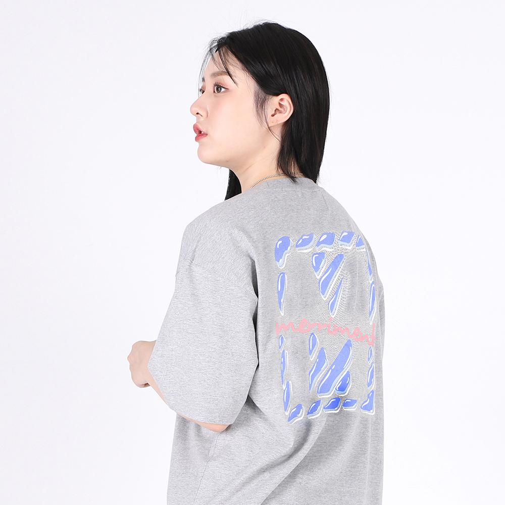 [단독할인](UNISEX)Drop of Water in M T-shirt(GREY)