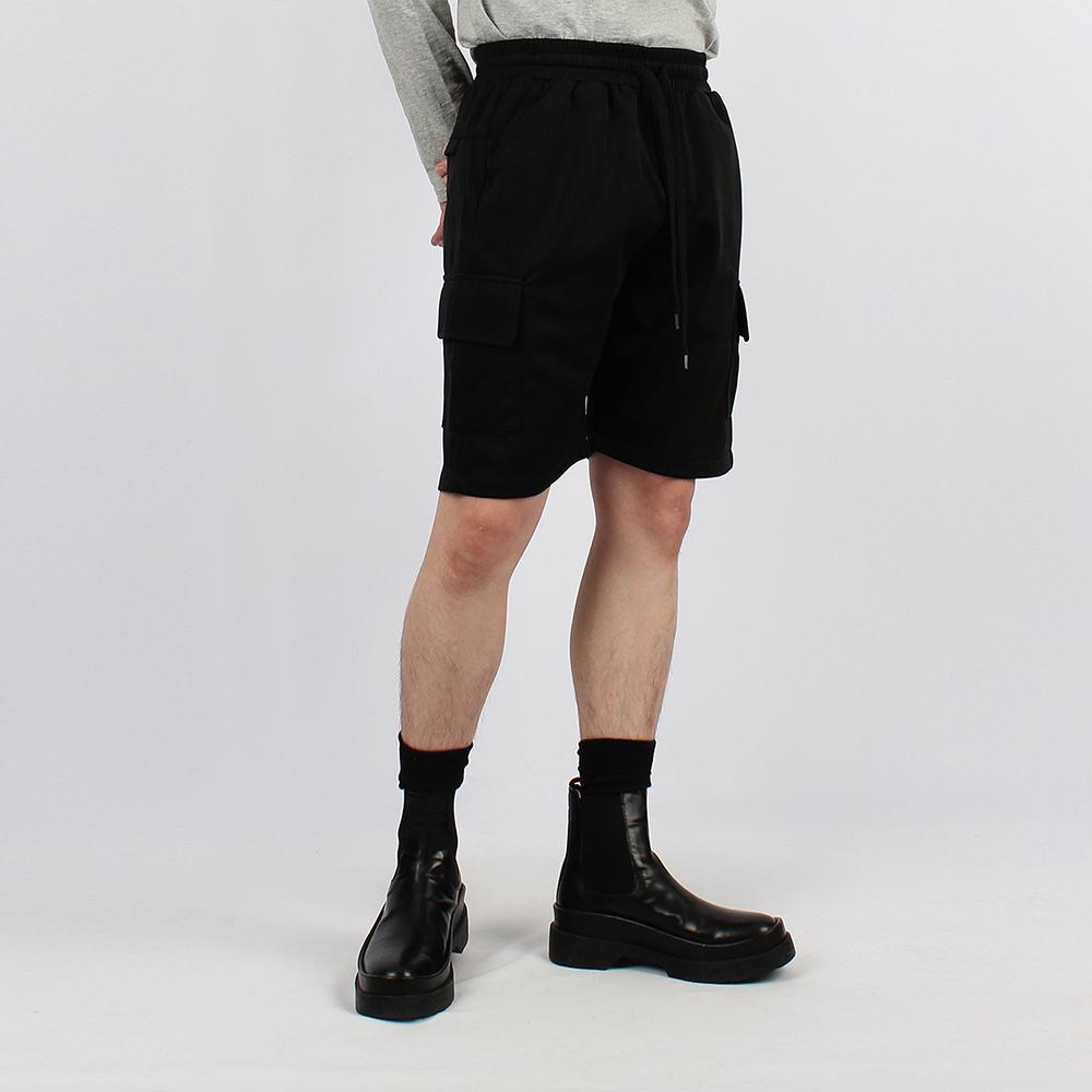 UNISEX TRICKLE CARGO H-PANTS IRB014 BLACK