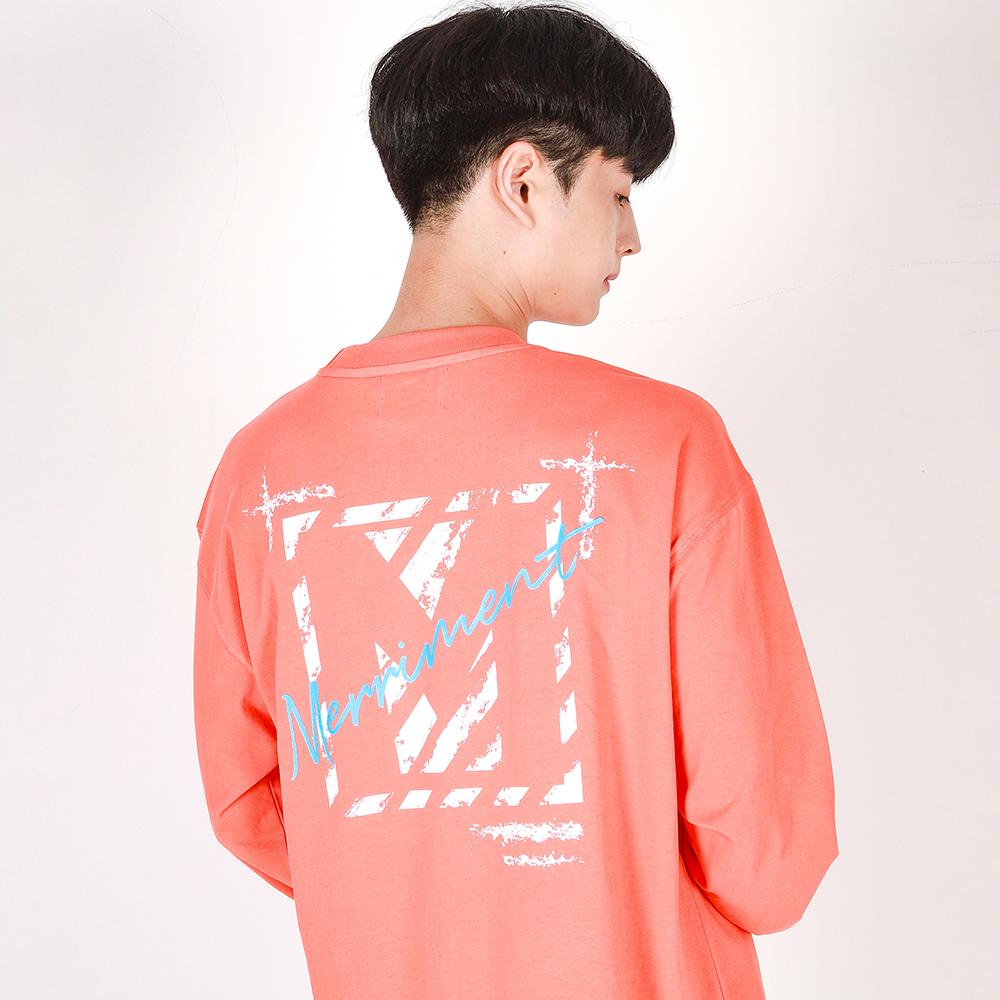 [리퍼브데이]Crack M Lettering T-shirt(CORAL)