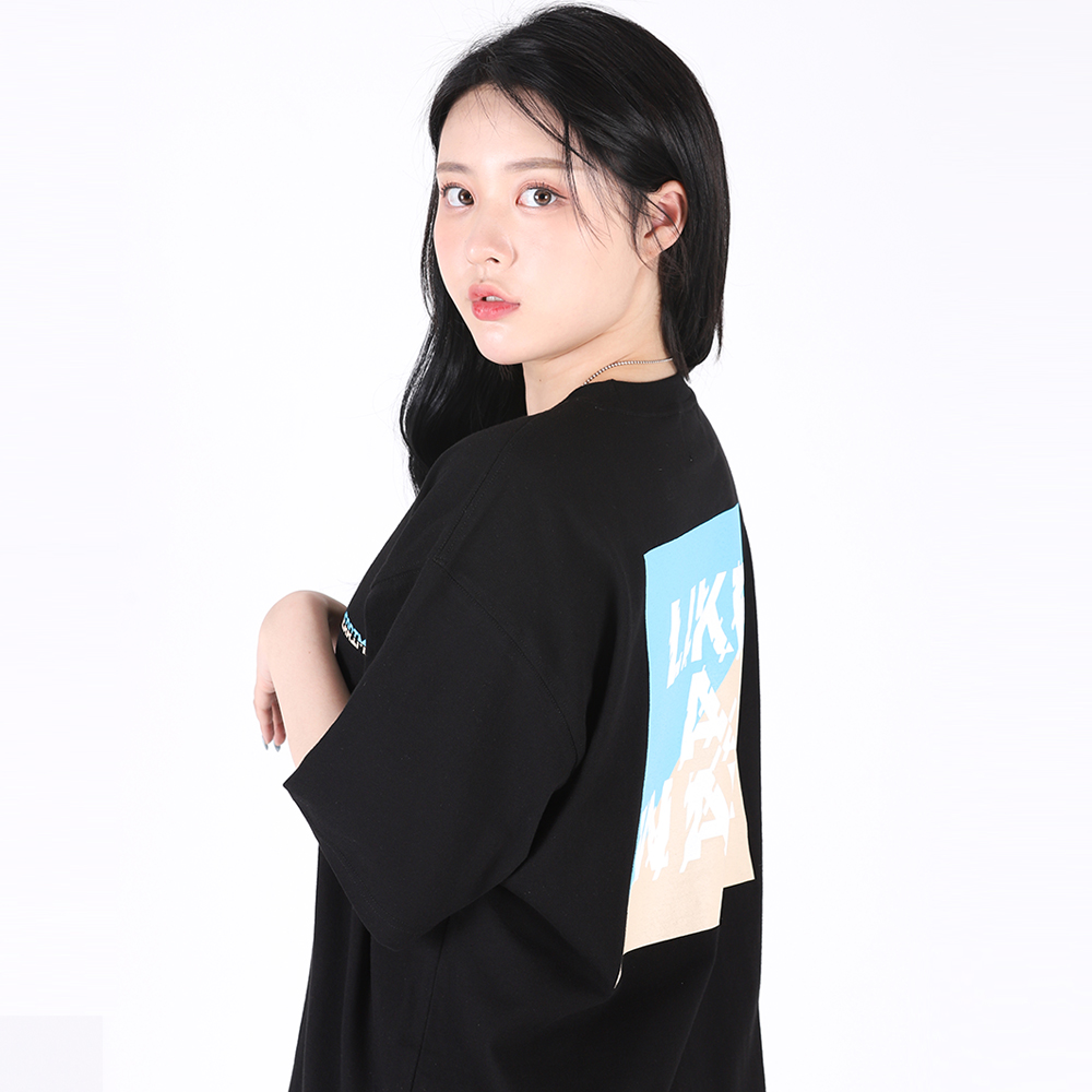 [단독할인](UNISEX)Like a Wave T-shirt(BLACK)