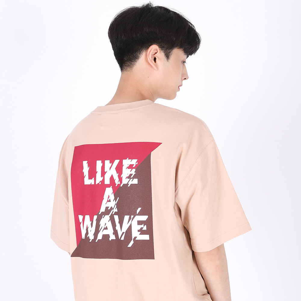 [단독할인](UNISEX)Like a Wave T-shirt(BEIGE)