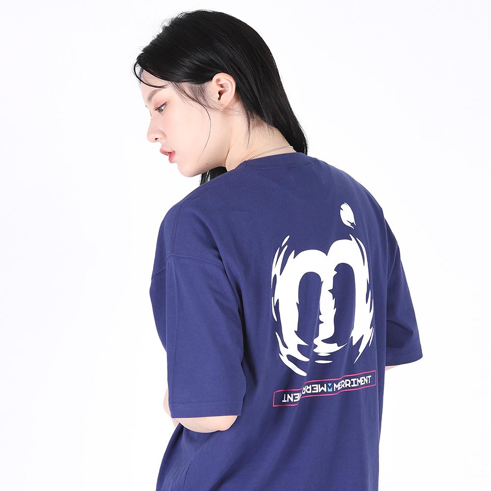[단독할인](UNISEX)M Twist Color T-shirt(BLUE PURPLE)