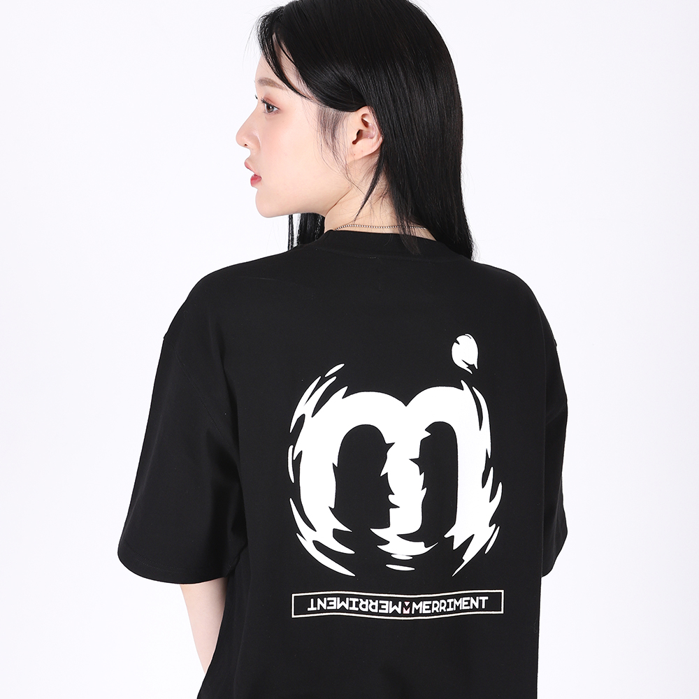 [단독할인](UNISEX)M Twist Color T-shirt(BLACK)