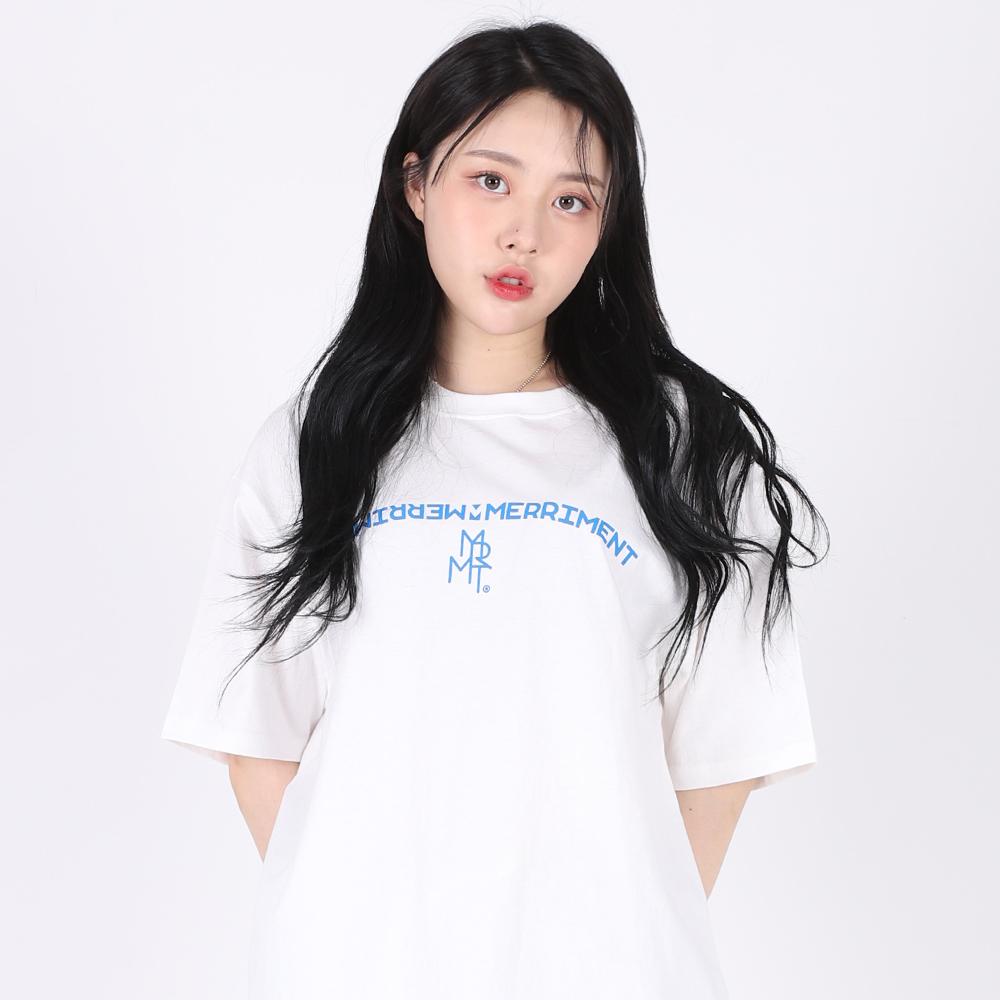 [TOO 제롬 착용](UNISEX)Arch Lettering T-shirt(WHITE)
