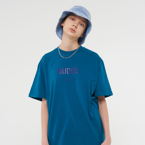 [남여공용]메이드 로고 티셔츠 (블루그린)