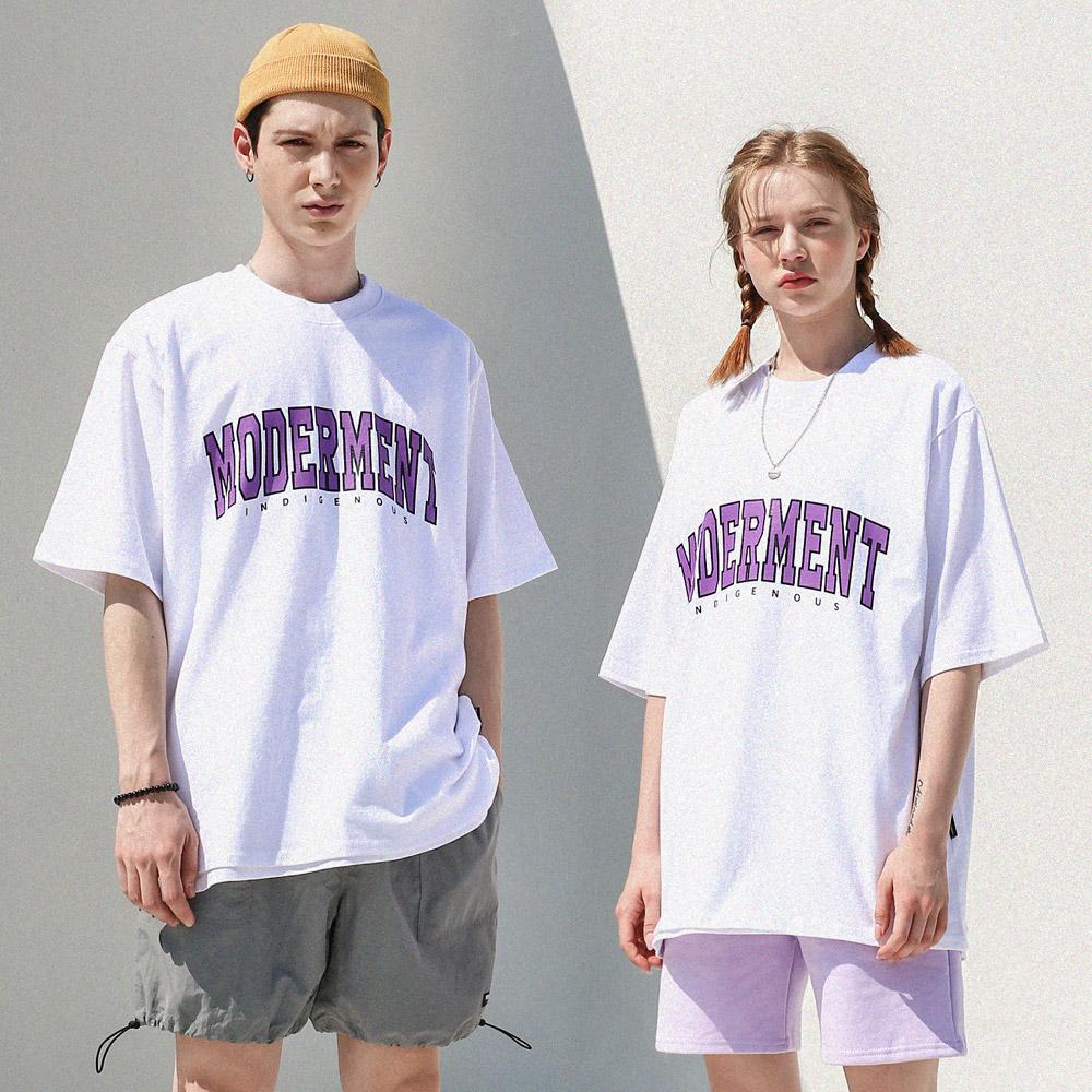 [UNISEX] 아치로고 오버핏 반팔 티셔츠 (화이트)