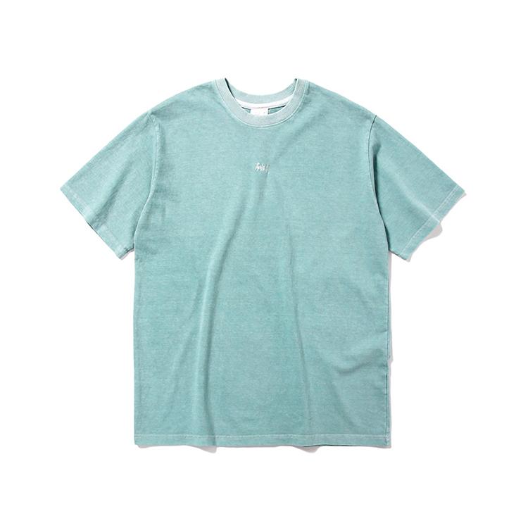 피그먼트 로고 티셔츠_민트