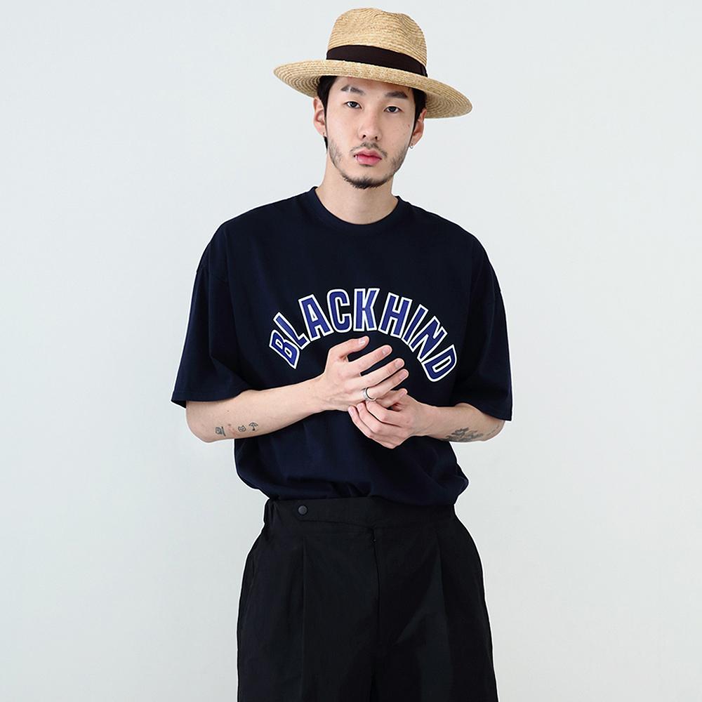 [단독할인]Big Logo T-shirt -Navy-