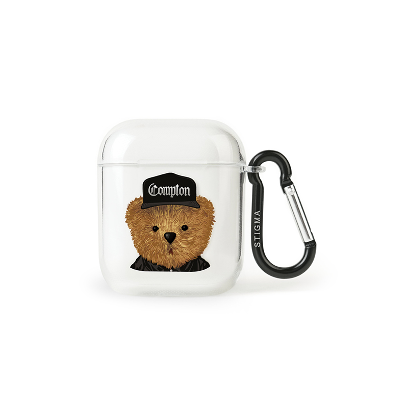 STIGMA AirPods CASE COMPTON BEAR CLEAR