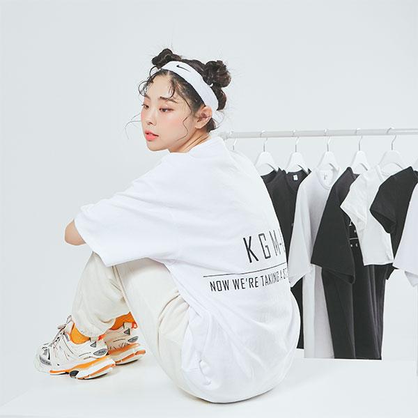 Oversize Straight Line T shirt White