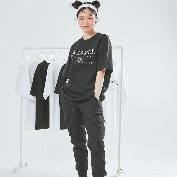 Oversize Big Front T shirt Black