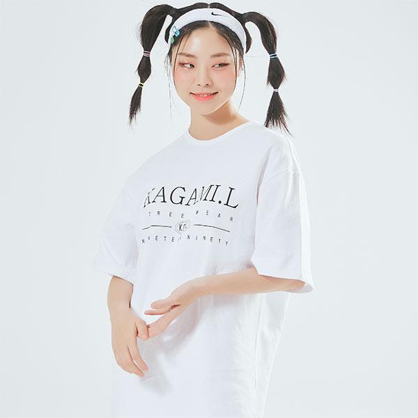 Oversize Big Front T shirt White