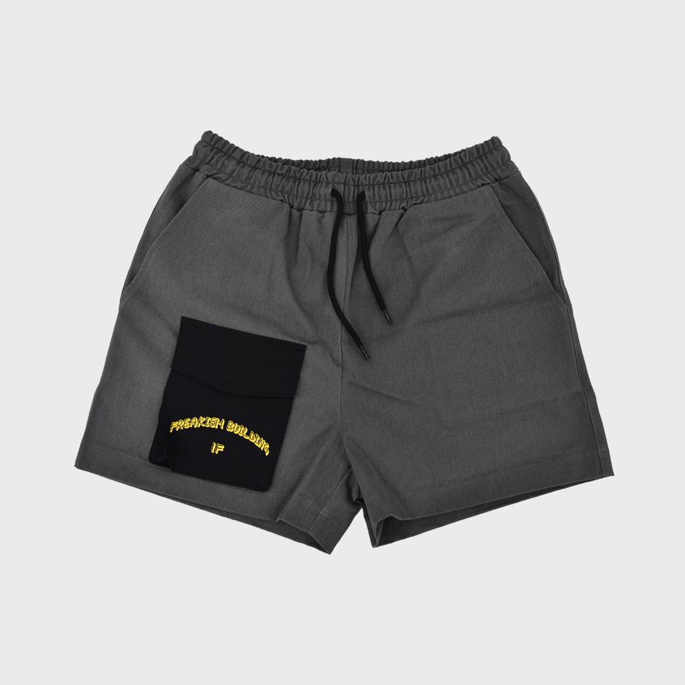 [단독할인][FHBG] FRONT POCKET SHORTS PANTS (BLACK)