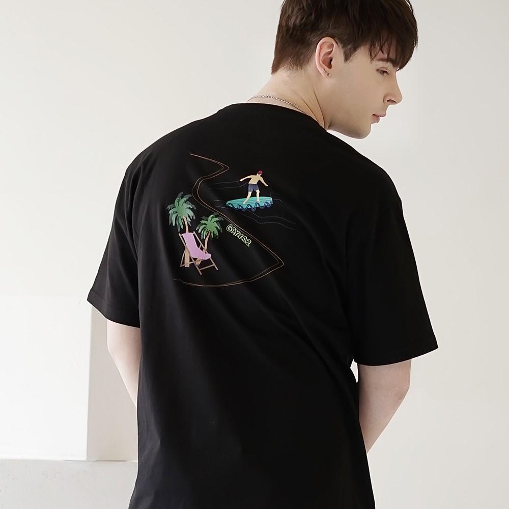 시사이드 티셔츠 블랙