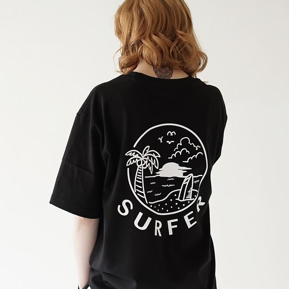 선셋 서퍼 티셔츠 블랙