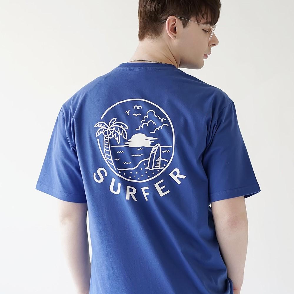 선셋 서퍼 티셔츠 블루