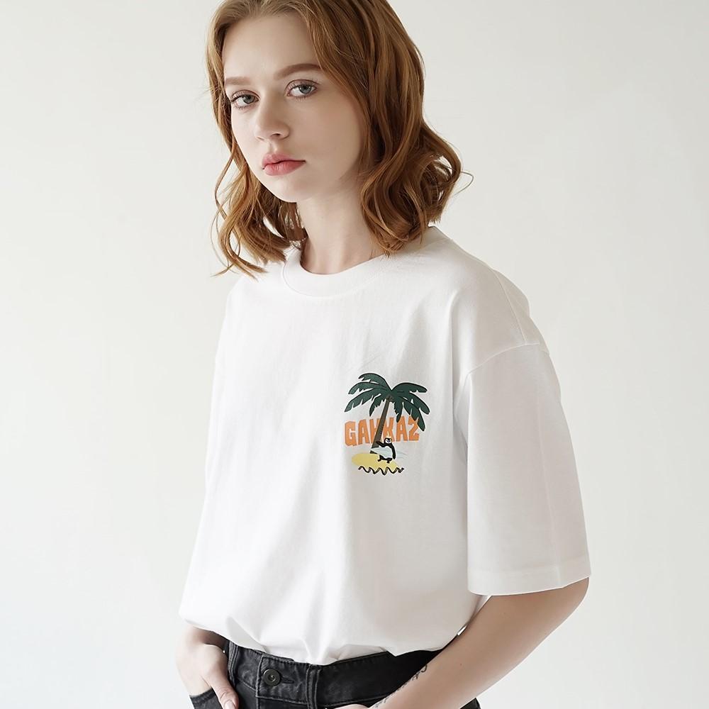 팜트리 티셔츠 화이트