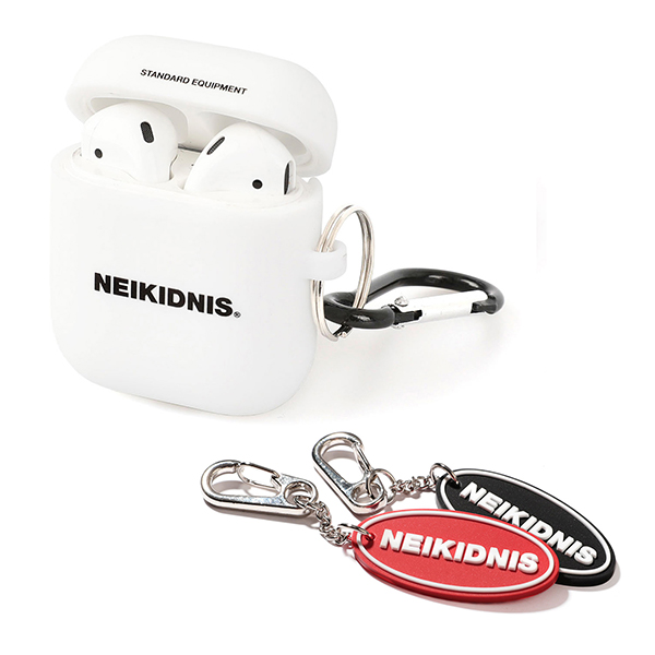 AIRPOD CASE & KEY RING SET / WHITE