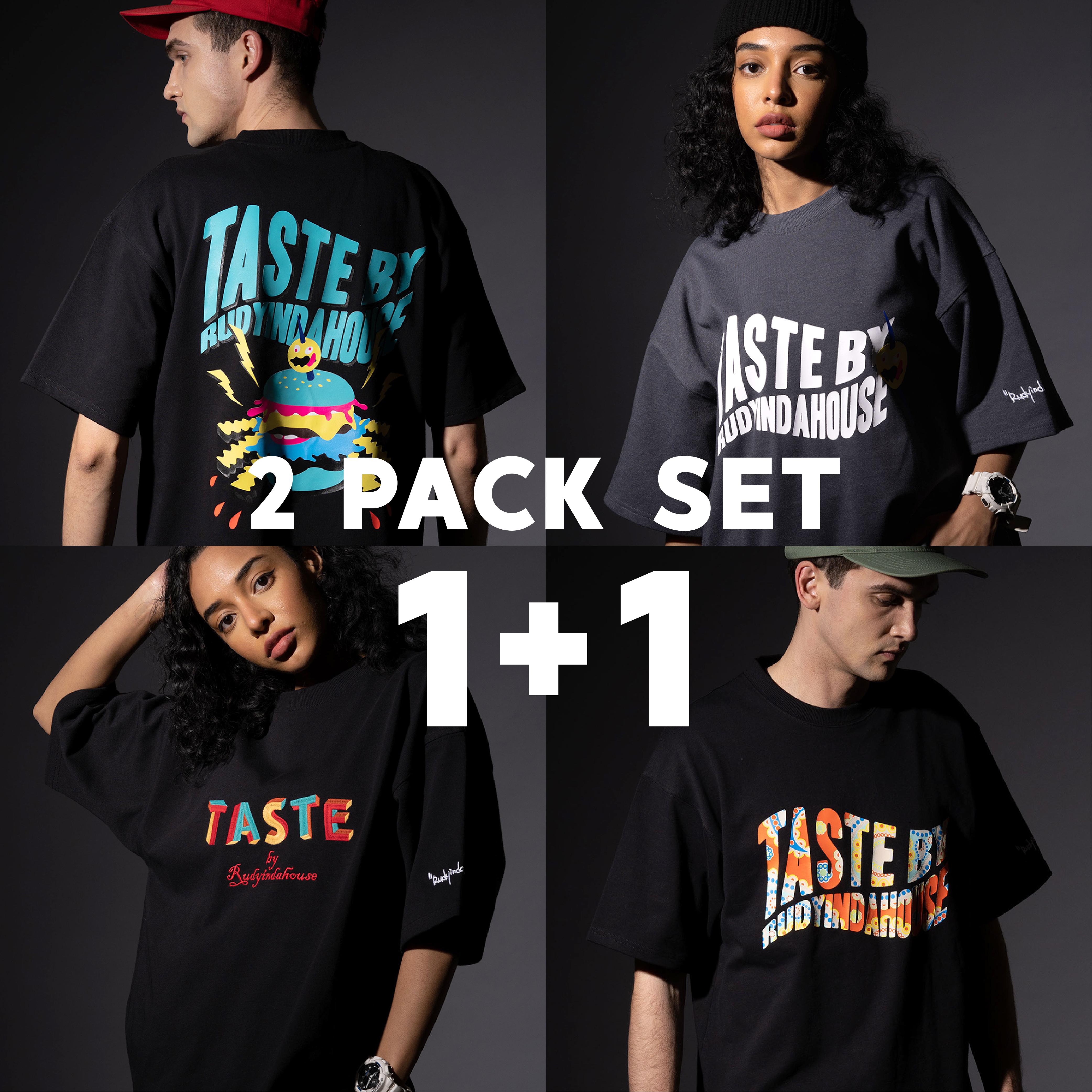 [시즌오프][1+1] Hamburger T-shirt / Basic T-shirt / Embroidery T-shirt / Paisley T-shirt