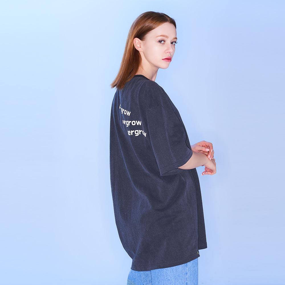 피그먼트 로고 티셔츠 [차콜]