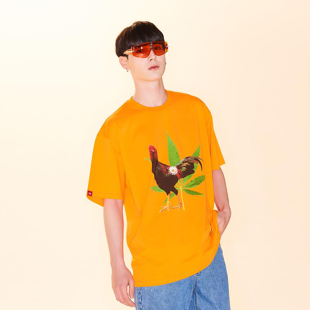 마리화닭 티셔츠 [오렌지]