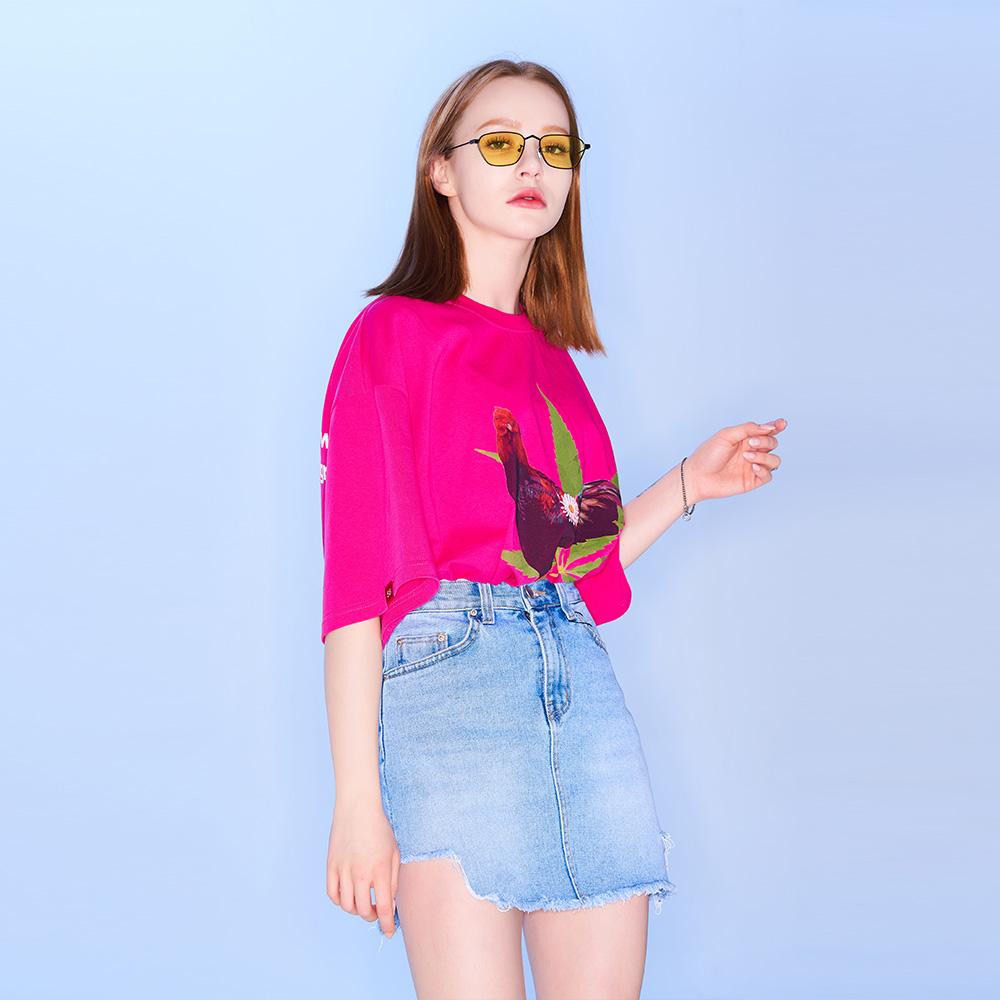 마리화닭 티셔츠 [핑크]