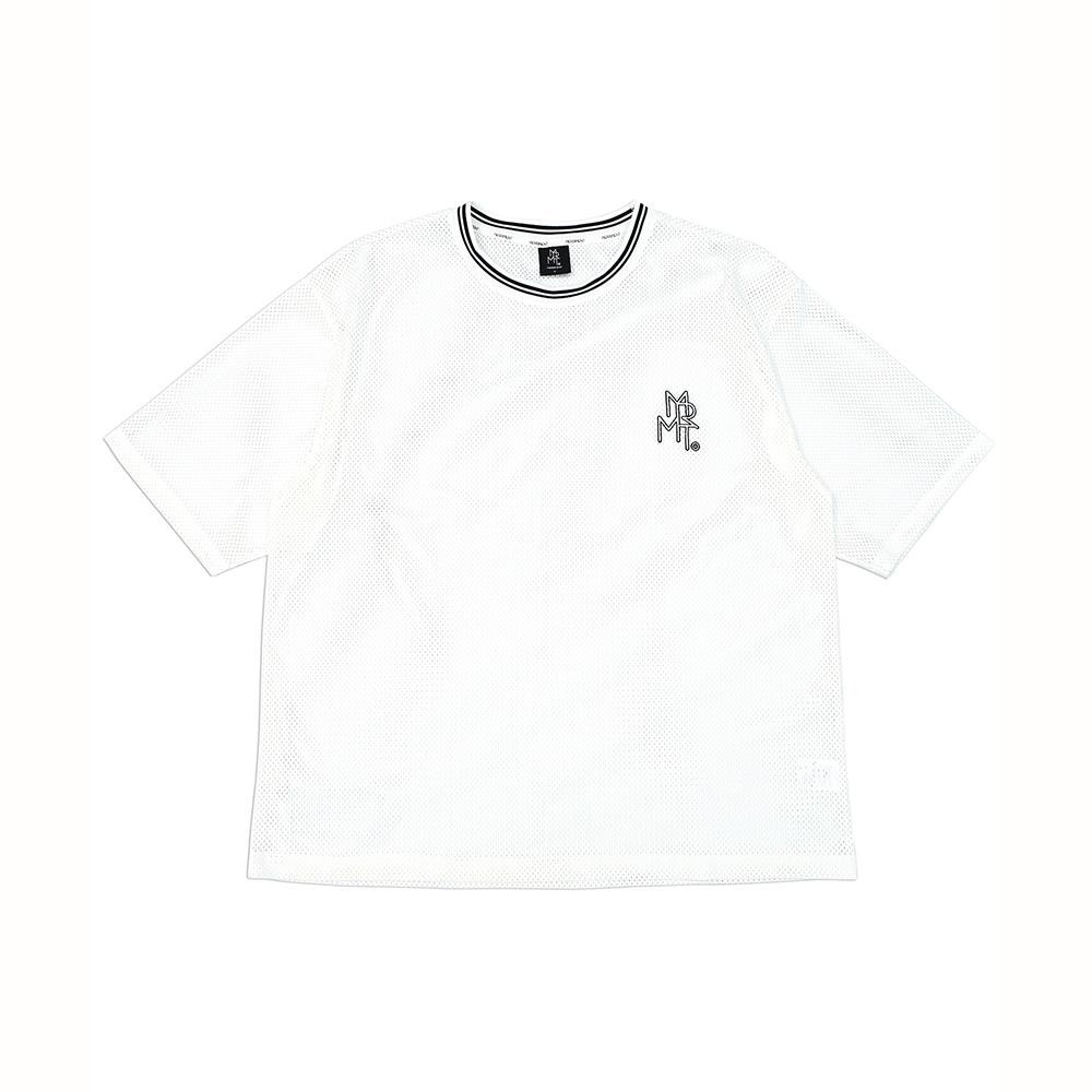 메쉬 로고 반팔 티셔츠(WHITE)