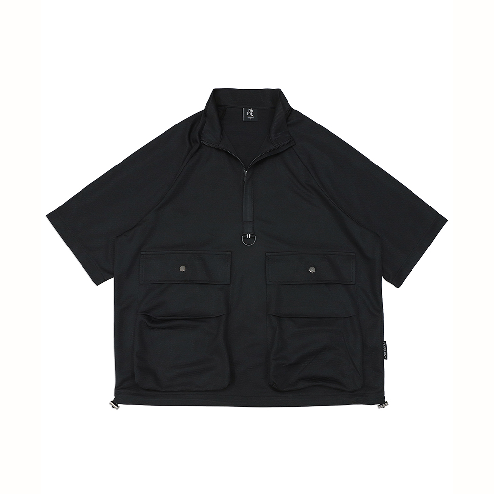 테크 하프 아노락 T(BLACK)