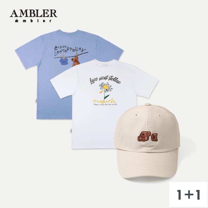 [단독구성](1+1)엠블러 볼캡 반팔 10종