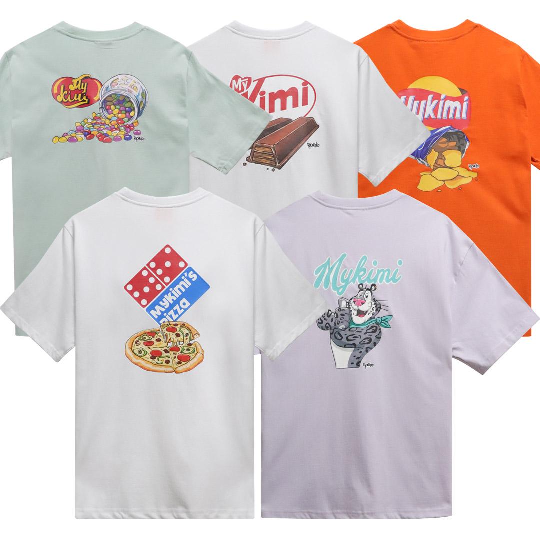 [단독할인][MYKIMI X Ryongko] MY YUMMY 5종 티셔츠