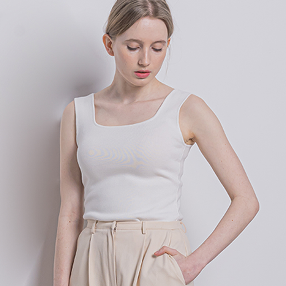 [입점특가]W562 P-basic tank top white
