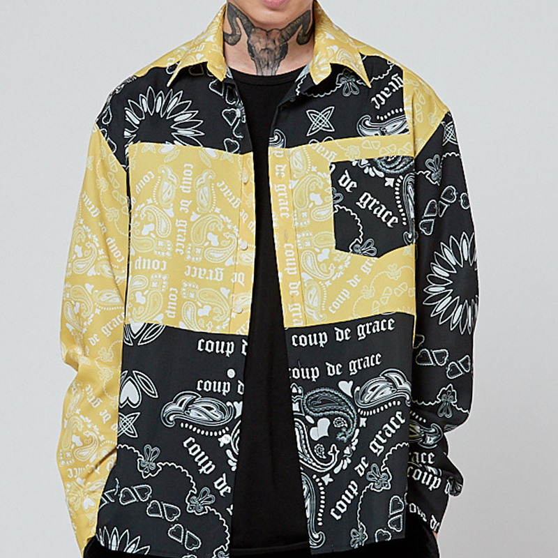 REBUILD PAISLEY SHIRT YELLOW