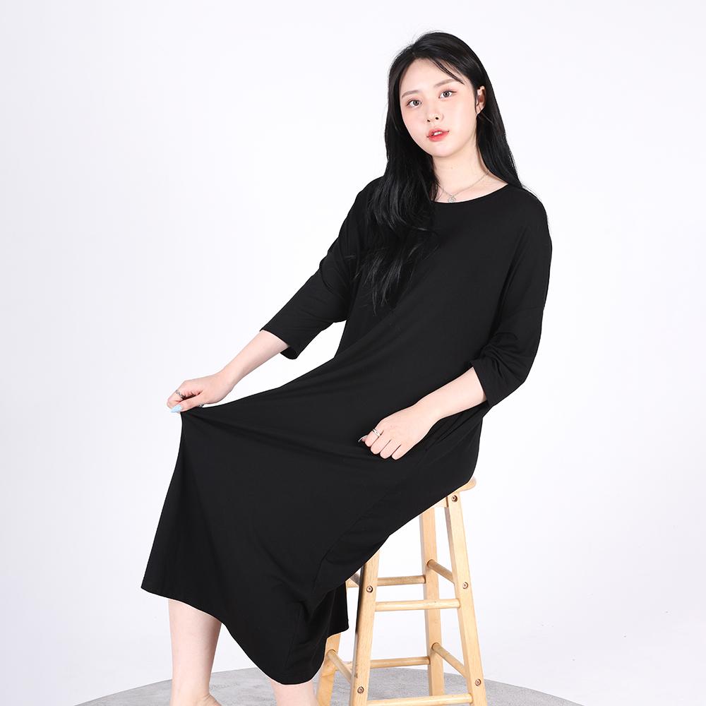 Long One-piece Soft Home wear(BLACK)