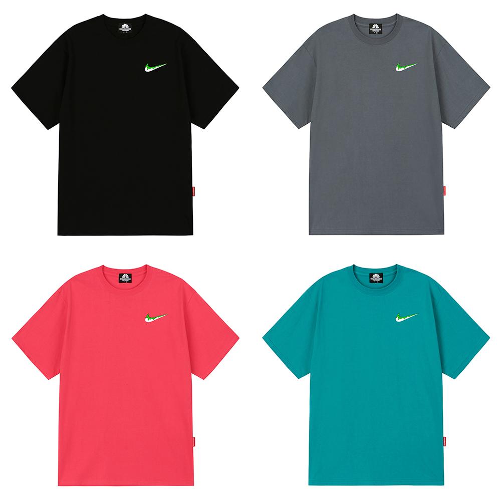 [마스크5개증정][단독]GREEN SMALL BENDING 티셔츠 - 7 컬러