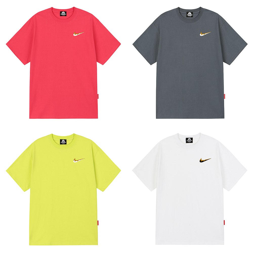 [마스크5개증정][단독]ORANGE SMALL BENDING 티셔츠 - 7 컬러