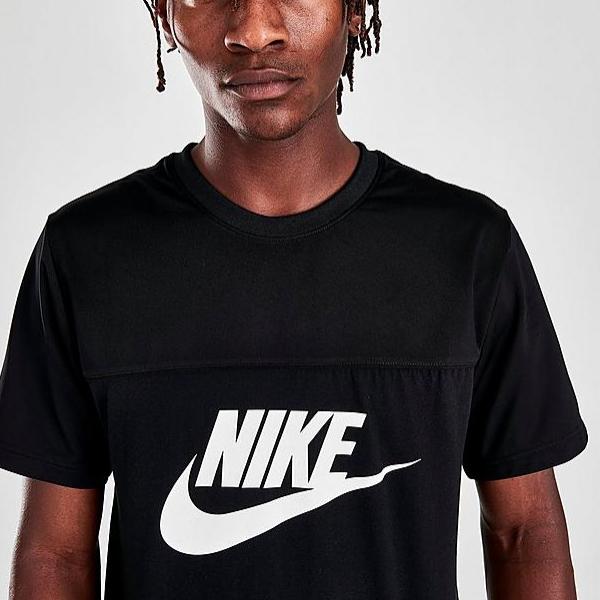 [해외]나이키 패널 로고 티셔츠 블랙  CW5385 010