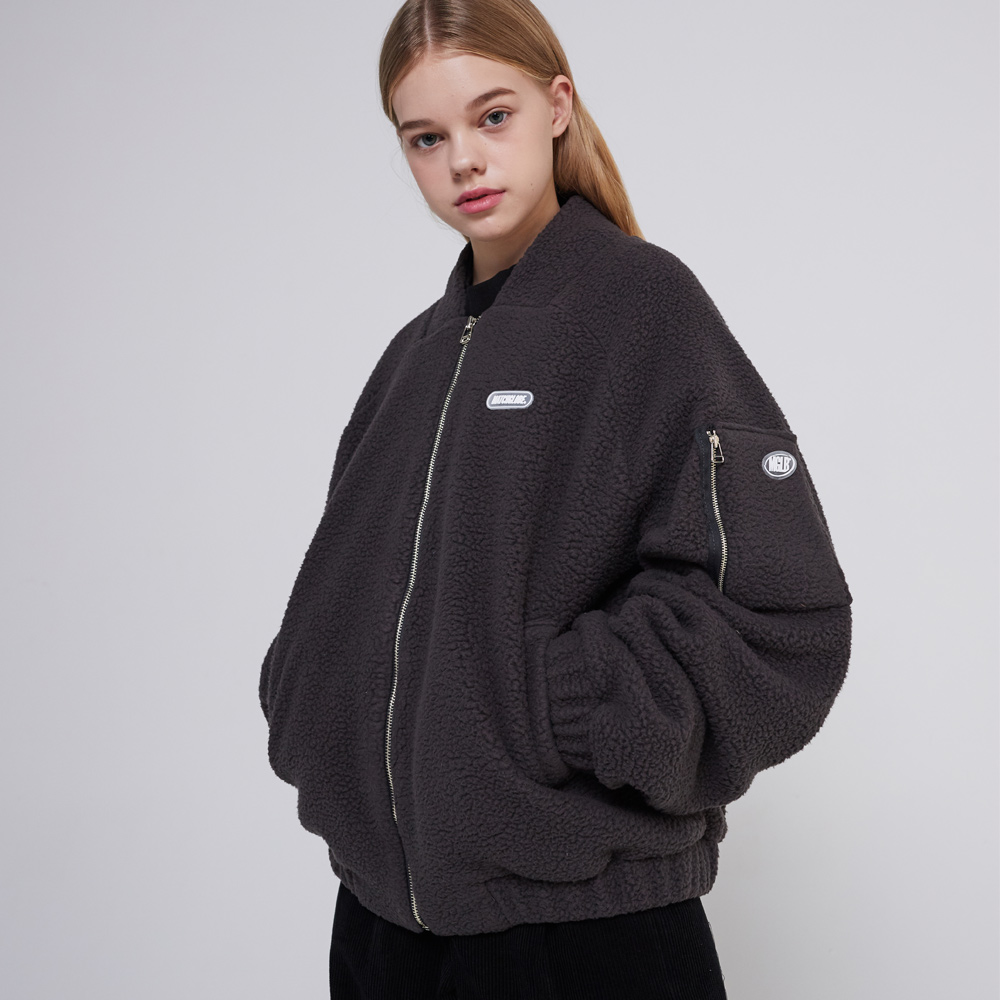 MG9F RAGLAN FLEECE JUMPER (CHARCOAL)