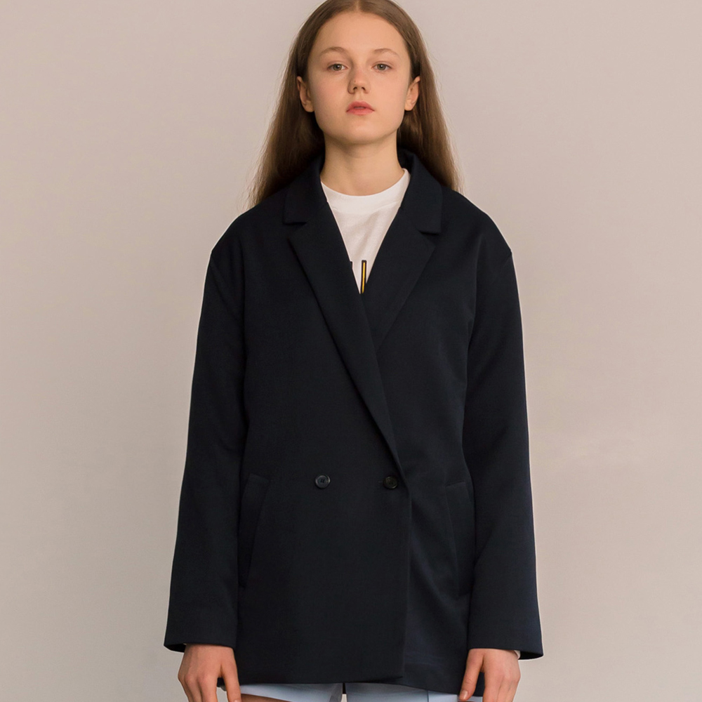 MG8S DOUBLE BASIC JACKET (NAVY)