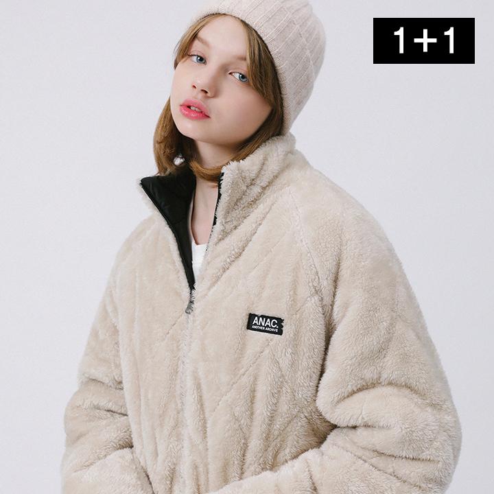 [당일발송][단독특가](1+1)리버시블 보아털 퀼팅 점퍼