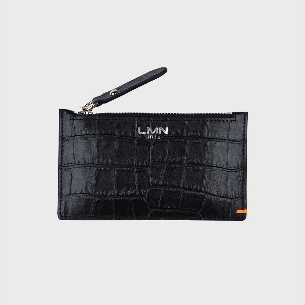[2차 재입고]크로커다일 엠보 카드지갑-블랙