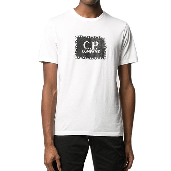 [해외]CP컴퍼니 라운드넥 티셔츠 WH 08CMTS140A005100W