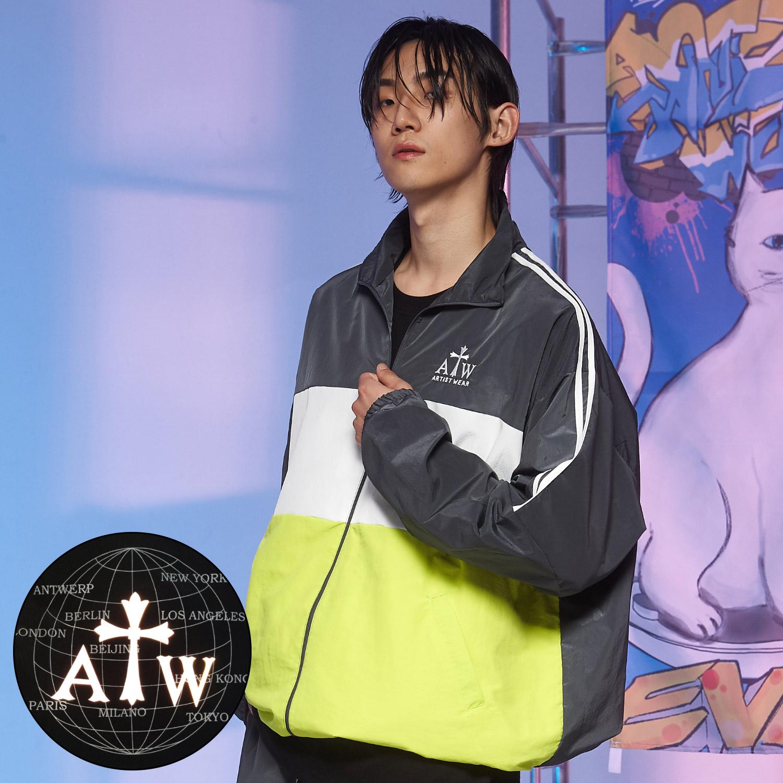 [단독할인][ATW] 월드스프리드 메탈 바람막이_GY