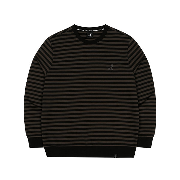 T/T Stripe Sweatshirt 1638 BLACK