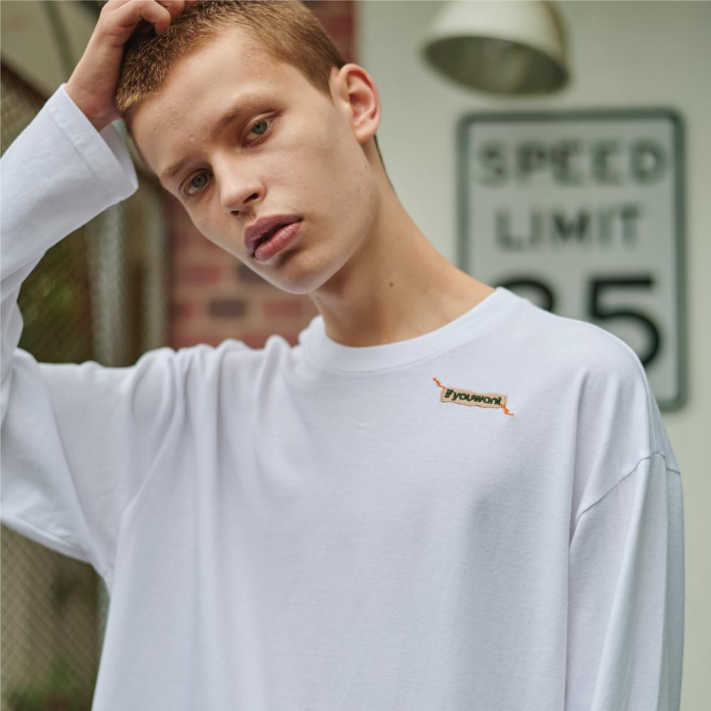 Sewing Symbol Longsleeve WHITE