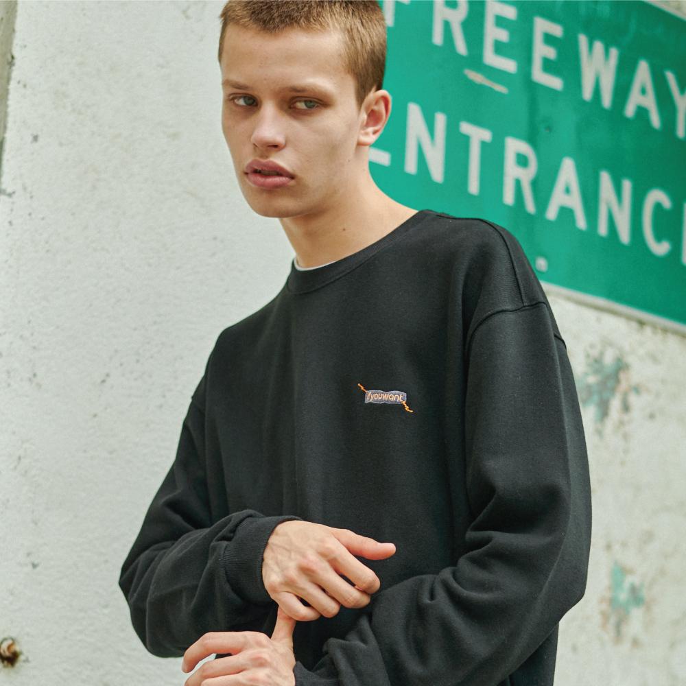 Sewing Symbol Sweatshirt BLACK