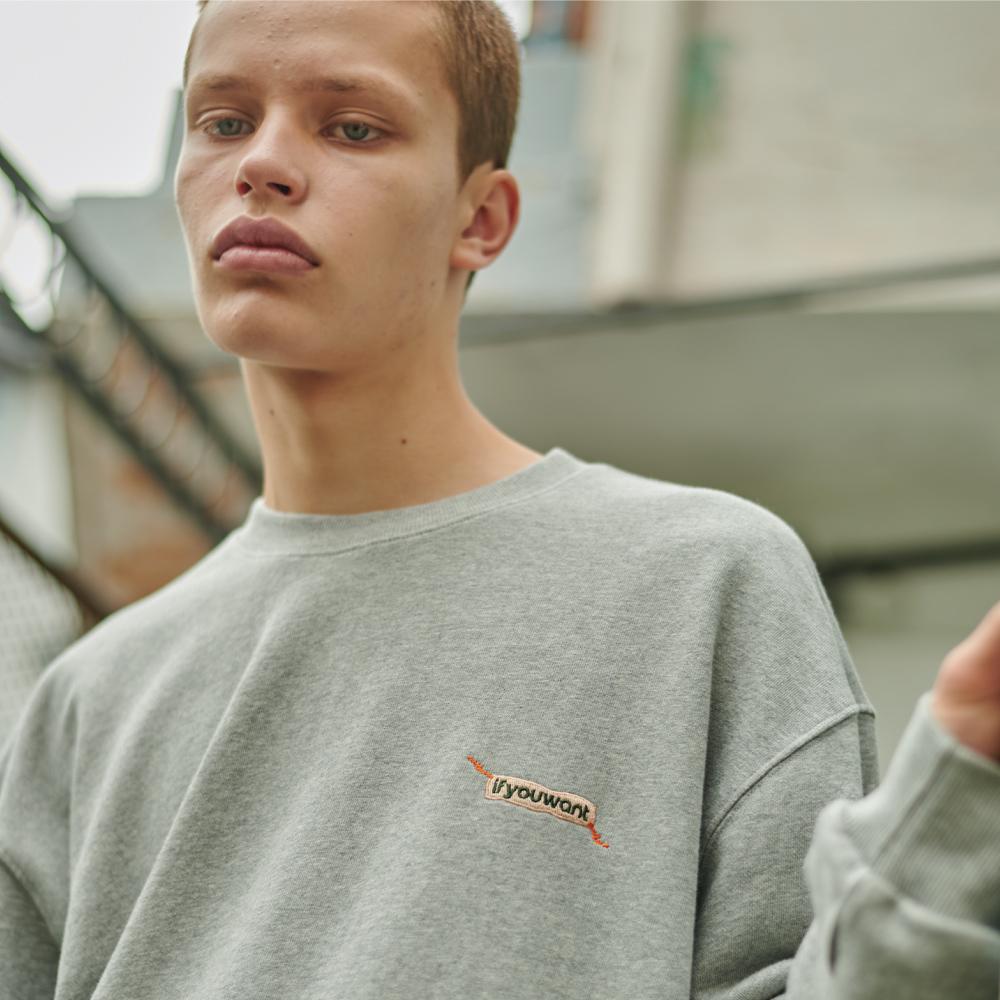 Sewing Symbol Sweatshirt GRAY