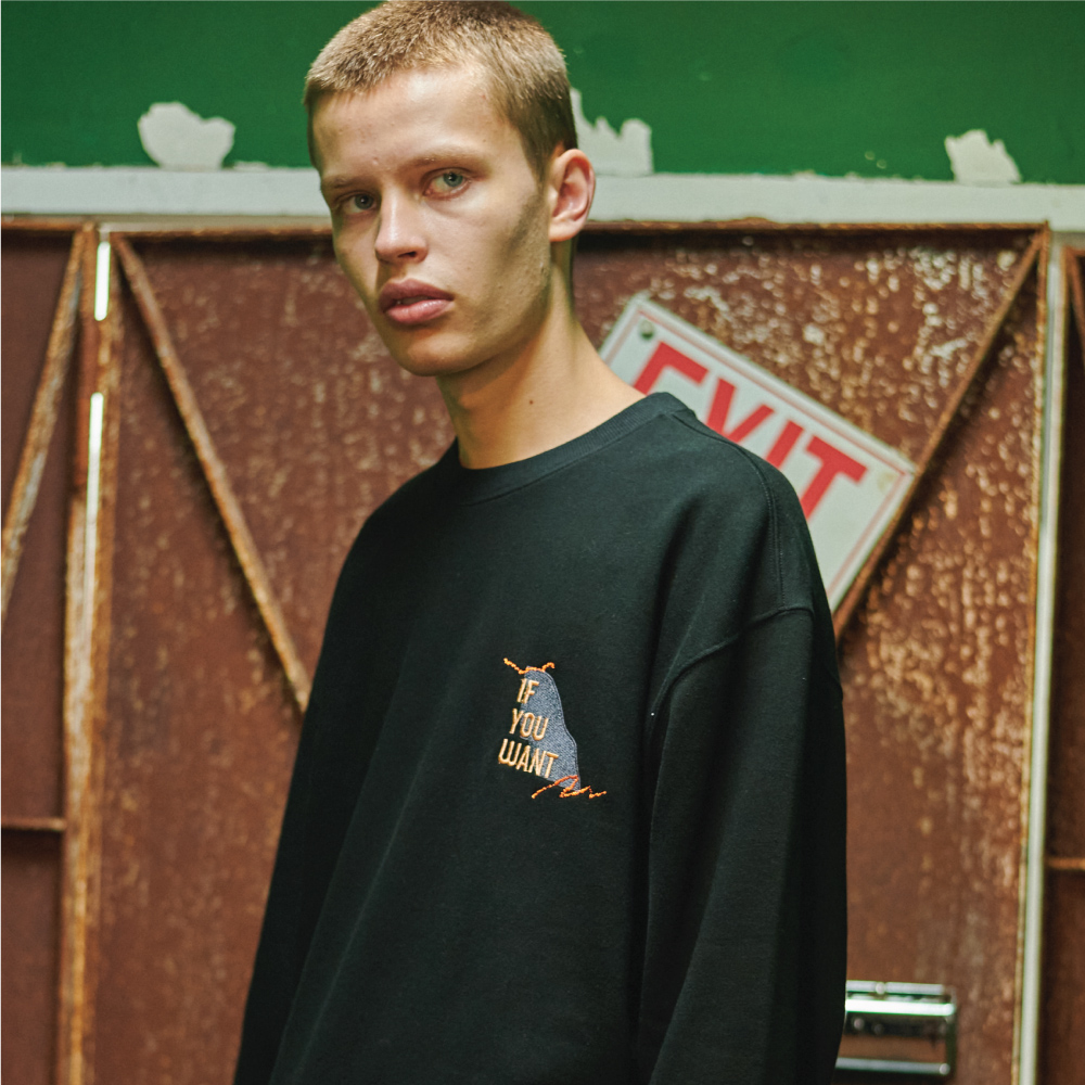 Teared Box Sweatshirt BLACK