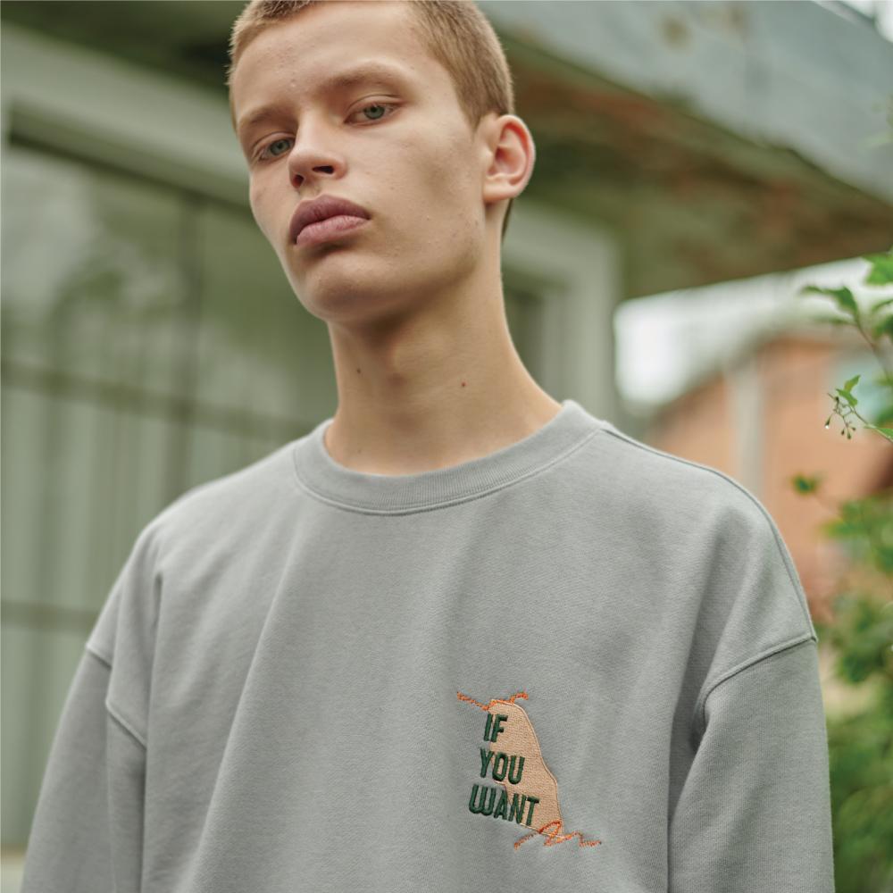 Teared Box Sweatshirt LIGHT GRAY