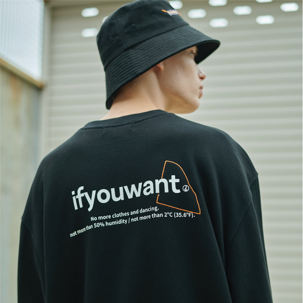 not more than Sweatshirt BLACK